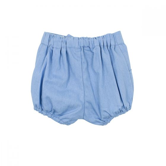Abby Chambray Short With Bow