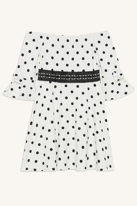Ingrid Ponti Dress - Black Spots