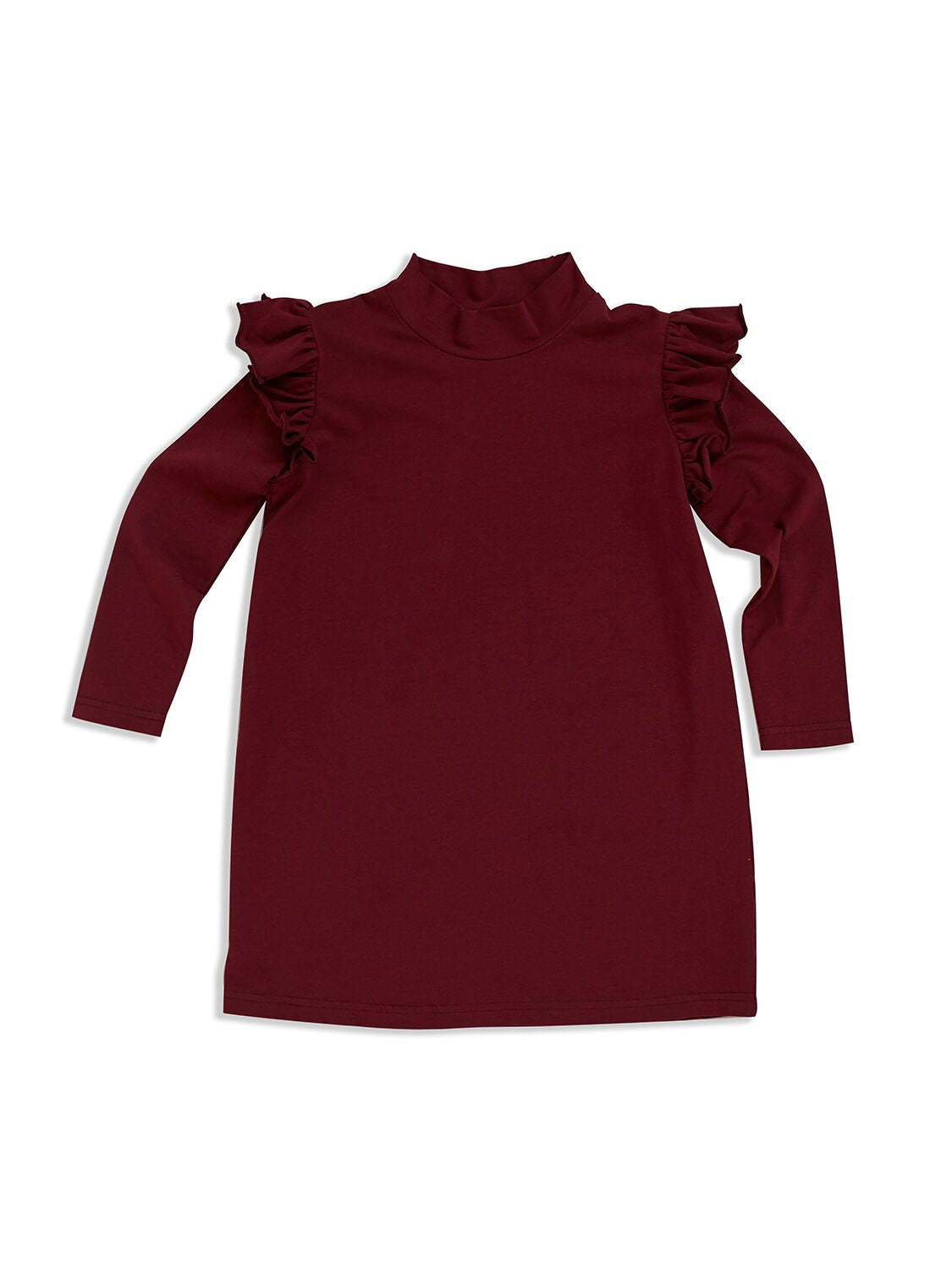 Ruby Turtle Neck Frill Dress