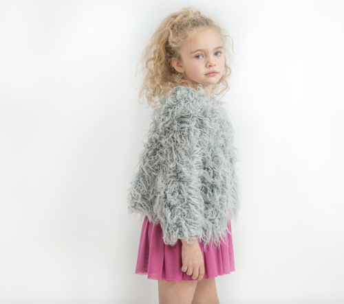 Grey Shaggy Faux Fur