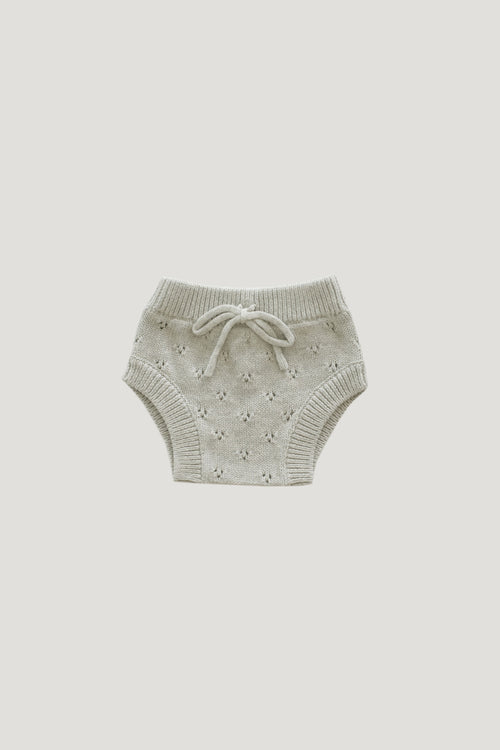 Pointelle Bloomer - Light Grey