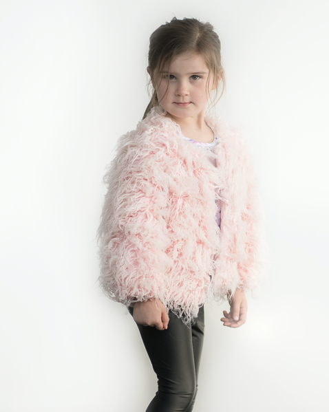 Blush Shaggy Faux Fur Jacket