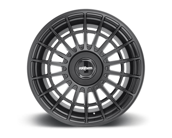 Rotiform LAS-R Matte Black Cast Monoblock Wheel 19x8.5 5x108 | 5x114.3 35mm