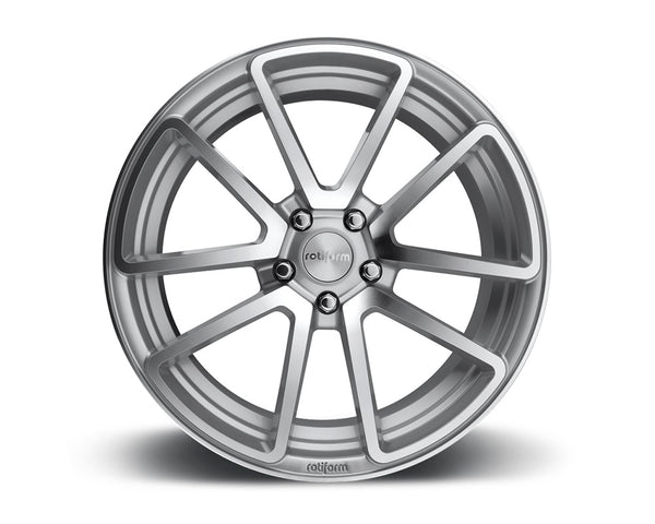 Rotiform SPF Silver & Machined Cast Monoblock Wheel 18x8.5 5x114.3 45mm