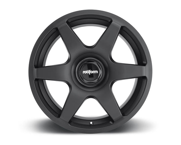 Rotiform SIX Matte Black Cast Monoblock Wheel 18x8.5 5x108 | 5x114.3 35mm