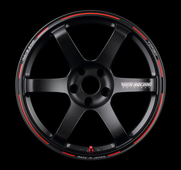 Volk Racing TE37 Saga Time Attack Edition Wheel 18x10.5 5x114.3 7mm Matte Black/Redot