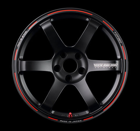 Volk Racing TE37 Saga Time Attack Edition Wheel 17x9 5x114.3 21mm Matte Black/Redot
