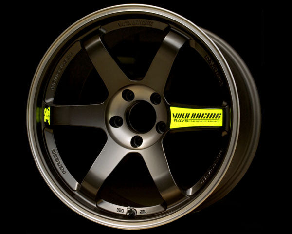 Volk Racing TE37SL Black Edition Wheel 18x9.5 5x114.3 22mm