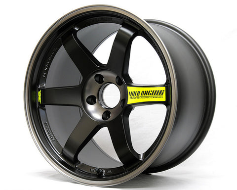 Volk Racing Pressed Black with REDOT Lip TE37SL Black Edition II Wheel18x10 5x114.3 29mm