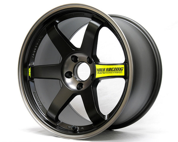 Volk Racing Pressed Black with REDOT Lip TE37SL Black Edition II Wheel18x10.5 5x114.3 14mm