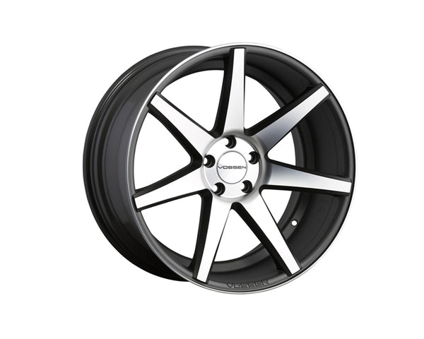 Vossen CV7 Matte Graphite with Machined Face Monoblock Wheel 22x10.5 5x114.3 30mm