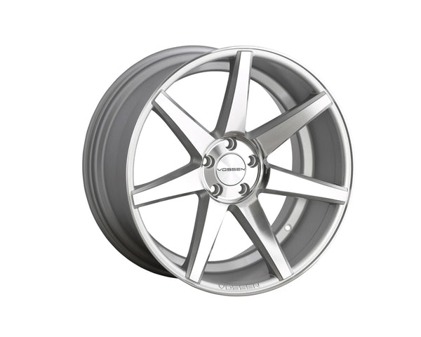 Vossen CV7 Silver with Polished Face Monoblock Wheel 19x10 5x114.3 38mm