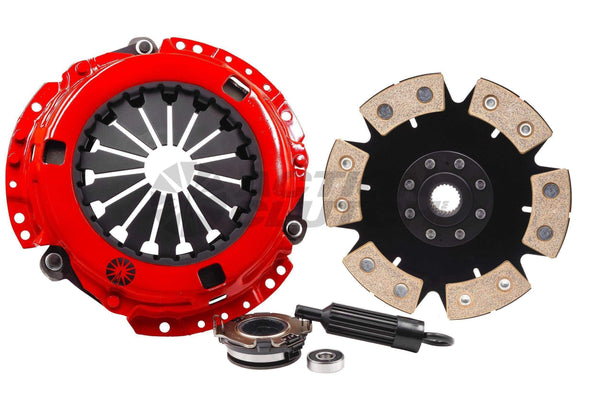 Action Clutch Stage 6 Iron Button 6-Puck Rigid Clutch Kit | 2001-2007 Mitsubishi Evolution 7-9 (ACR-1148)