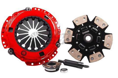Clutch Kits, Flywheels & Accessories - Action Clutch Stage 5 Iron Button 6-Puck Sprung Clutch Kit | 2001-2007 Mitsubishi Evolution 7-9 (ACR-1147)