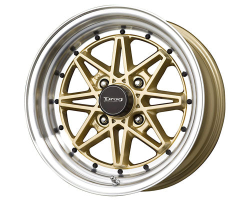 Drag DR-20 15X7  4x114.3  0mm Gold Machined Lip