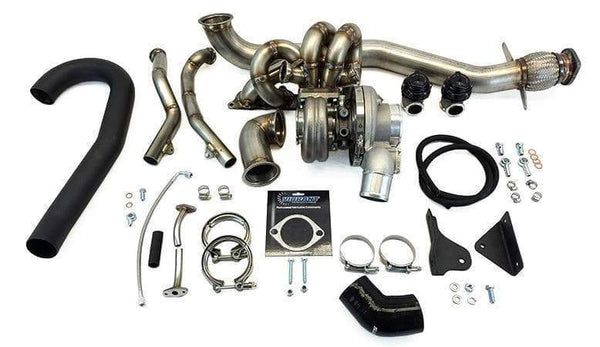 ETS Stock Placement T4 Twin Scroll Turbo Kit | 2003-2006 Mitsubishi Evolution 8/9 (100-20-TK)