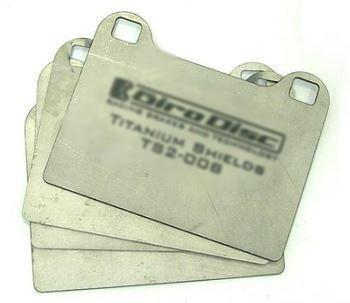 Mitsubishi Lancer Evolution 6, 7, 8, and 9 Rear Titanium Pad Shields by Girodisc (TS2-0961)