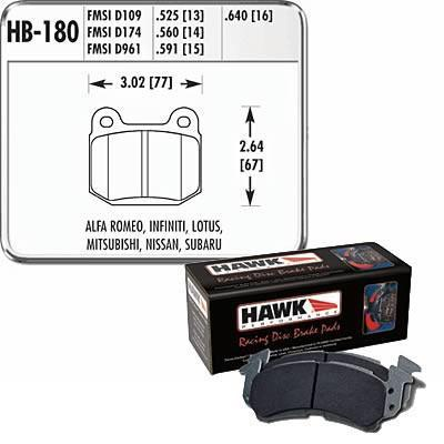 Hawk Performance HT 10 Rear Racing Brake Pads | Multiple Fitments (HB180S.560)