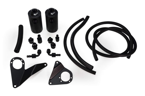 Radium Engineering Dual Catch Can Kit | 2008-2015 Mitsubishi Evolution X (20-0108-08)