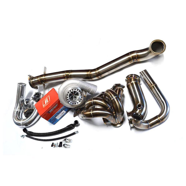 Sheepey Built EVO 8/9 V-Band Forward Facing Turbo Kit | 2003-2006 Mitsubishi Lancer Evo 8 / 9 (EVO89-VBFFTK)