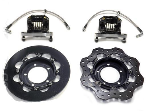 STM Rear Lightweight Drag Brake Kit | 2003-2006 Mitsubishi Lancer Evolution 8/9 (EVO-DBKR)