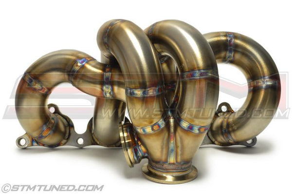 STM Standard Placement V-Band Exhaust Manifold | 2003-2006 Mitsubishi Lancer Evolution 8/9 (EVO-MANI-STD-VB)
