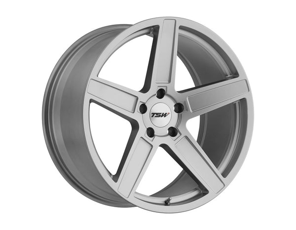 TSW Ascent Matte Titanium Silver Wheel 20x10 5x114.30 40mm