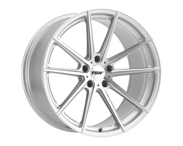 TSW Bathurst Silver w/Mirror Cut Face Wheel 21x9 5x114.30 35mm