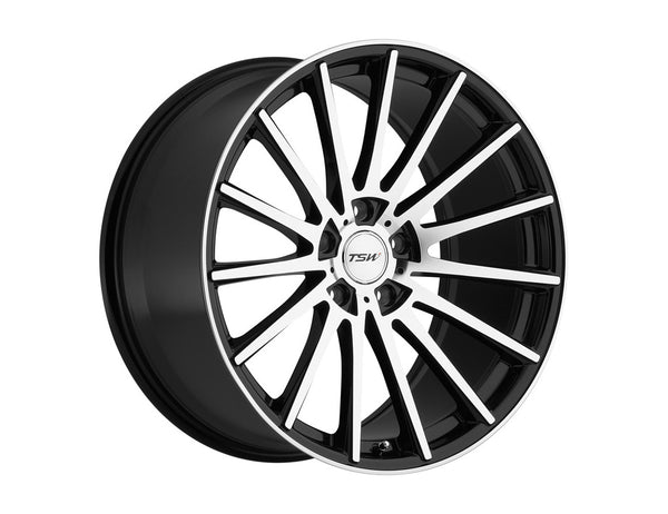 TSW Chicane Gloss Black w/Mirror Cut Face Wheel 18x9.5 5x114.30 20mm