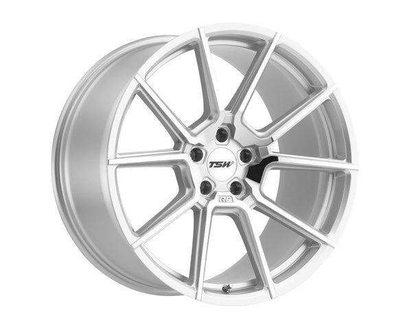 TSW Chrono Silver w/Mirror Cut Face Wheel 18x8.5 5x114.30 40mm