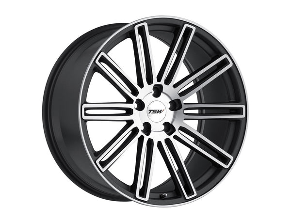 TSW Crowthorne Matte Gunmetal w/Matte Machine Face Wheel 19x8.5 5x114.30 30mm