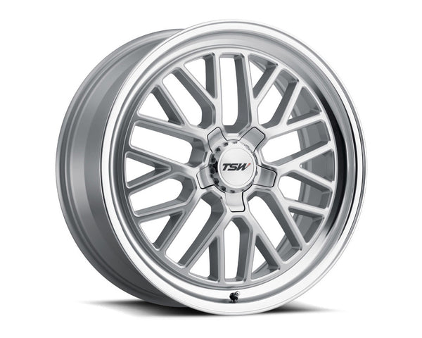 TSW Hockenheim S Silver w/Mirror Cut Lip Wheel 19x9.5 5x114.30 40mm