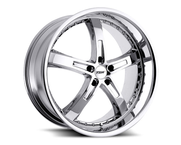 TSW Jarama Chrome Wheel 18x9.5 5x114.30 20mm