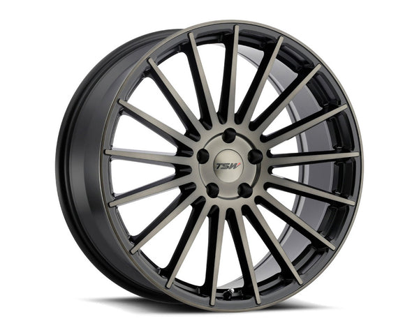 TSW Luco Matte Black w/Machine Face & Dark Tint Wheel 19x8.5 5x114.30 20mm