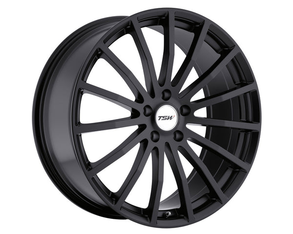 TSW Mallory Matte Black Wheel 19x9.5 5x114.30 20mm