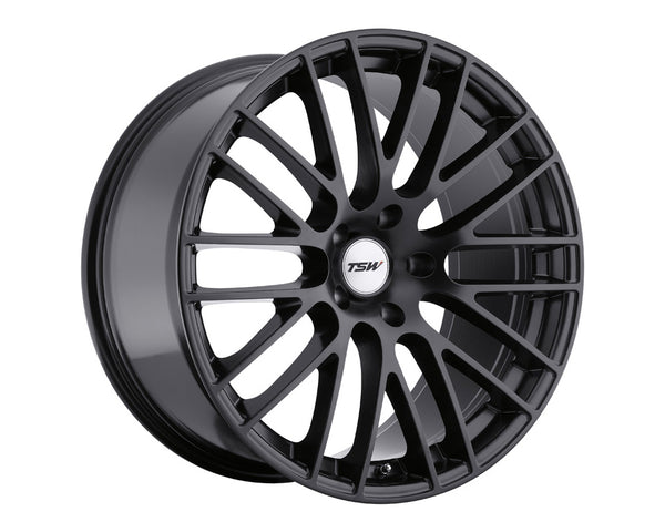 TSW Max Matte Black Wheel 17x9 5x114.30 20mm