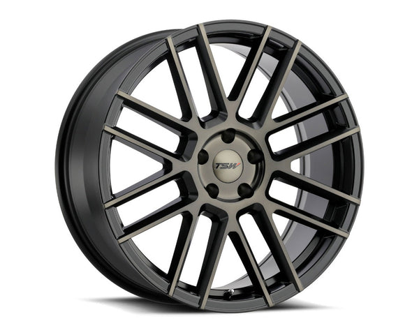 TSW Mosport Matte Black w/Machine Face & Dark Tint Wheel 18x9.5 5x114.3 20mm