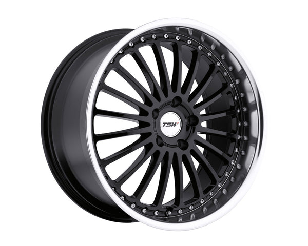 TSW Silverstone Gloss Black w/Mirror Cut Lip Wheel 20x8.5 5x114.3 20mm