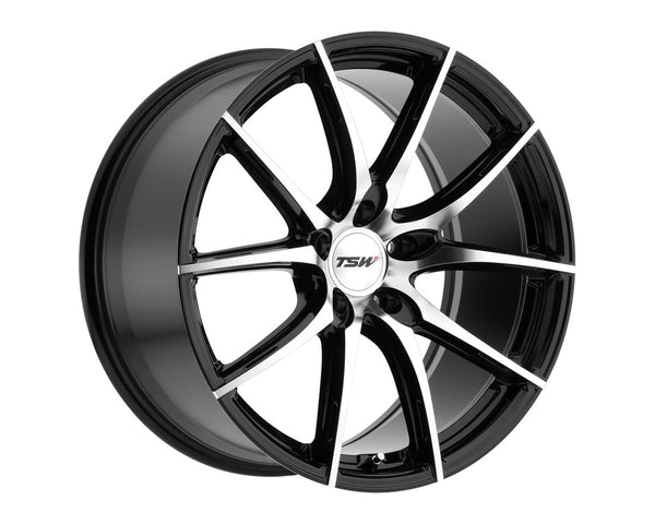 TSW Sprint Gloss Black w/Mirror Cut Face Wheel 20x8.5 5x114.3 20mm