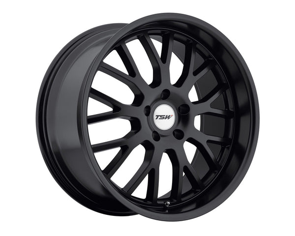 TSW Tremblant Matte Black Wheel 19x8 5x114.3 20mm