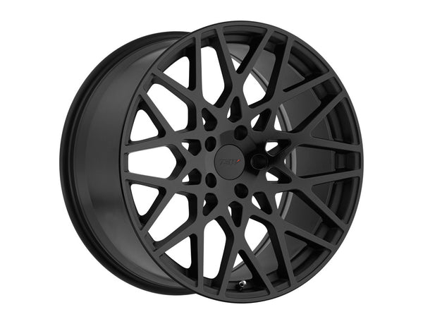 TSW Vale Double Black - Matte Black w/Gloss Black Face Wheel 20x10 5x114.3 25mm