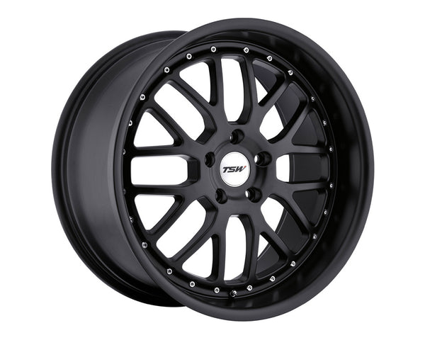 TSW Valencia Matte Black Wheel 19x8 5x114.3 20mm