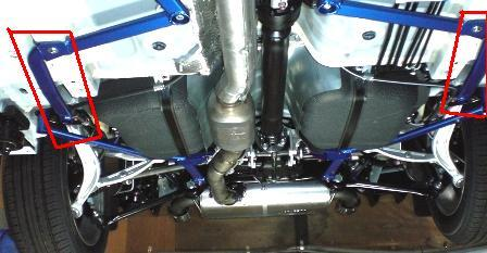 Under Bracing - Cusco | Floor Rear Sides Power Brace | Evo X