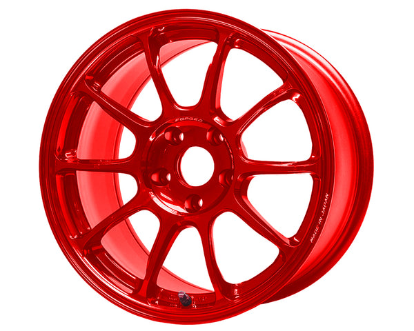 Volk Racing ZE40 Red Wheel 18x10 5x114.3 +35mm