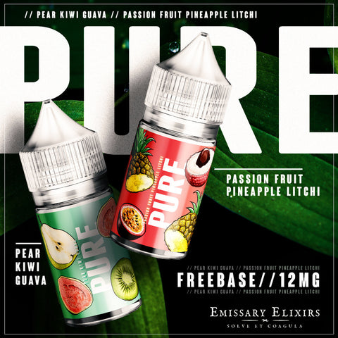 Pure Green - Pear Kiwi Guava - MTL / 12mg / 30ml