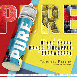 Pure 3 (Blue) - Mixed berries Mango Strawberry Pineapple