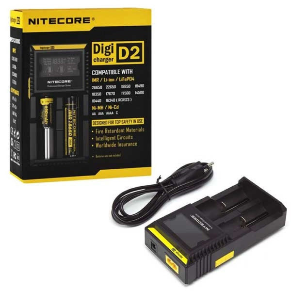 NiteCore D2 Digi Charger - Two Bay Battery Charger