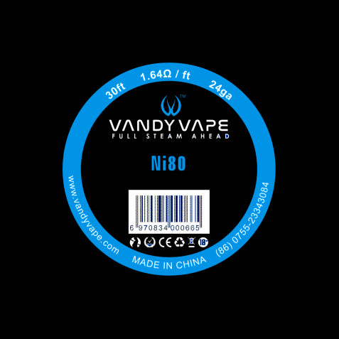 Vandy Vape NI80  30ft Round wire spool