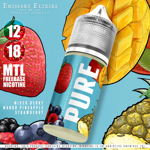 Pure Blue - Mixed berries Mango Strawberry Pineapple - MTL / 12mg / 30ml