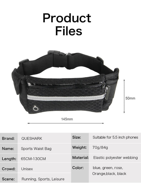 Waist pack for running, hiking, walking